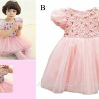 Baju Anak - LR 69 Dress Pink (GI-721)