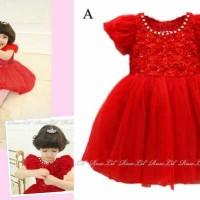 Baju Anak - LR 69 Dress Red (GI-721)