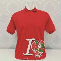 DISKON Kaos Polo Berkerah Natal/I Love Christmas/Pria Wanita