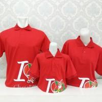 DISKON Kaos Polo Berkerah Natal Keluarga/Couple Family Set/Sarimbit