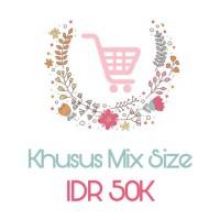 Mix Size Stiker Label Nama Baju Iron on Setrika