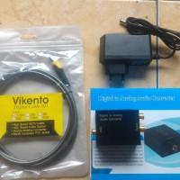 paket digital optic to analog rca audio converter plus kabel toslink