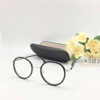 Paket Frame Kacamata MODERN VINTAGE + Lensa Minus Antiradiasi