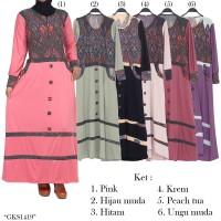 gamis spandek jersey batik songket 1419
