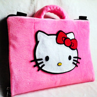 softcase/tas laptop,netbook,notebook lucu Hello Kitty Pink 11-12""
