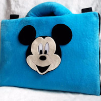 "Micky Mouse Biru 13-14"" softcase/tas laptop ,netbook,notebook lucu"