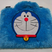 Doraemon Biru Lebat 10inchi softcase/tas laptop netbook,notebook lucu
