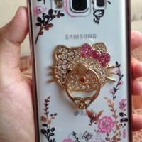 Bumper Flower Diamond Case + Ring Samsung Galaxy A3 2016 / A310