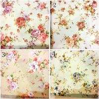 kain silk gorden kursi sofa curtain bunga floral shabby chic 2,8m 4