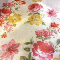 kain gorden gordin gordyn curtain bunga floral shabby chic 2,8m A13