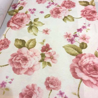 kain gorden gordin gordyn curtain bunga floral shabby chic 2,8m A3