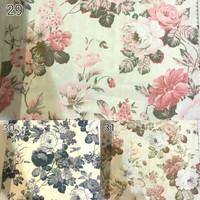 kain silk gorden kursi sofa curtain bunga floral shabby chic 2,8m 9