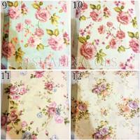 kain silk gorden kursi sofa curtain bunga floral shabby chic 2,8m 6
