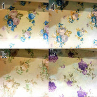 kain silk gorden kursi sofa curtain bunga floral shabby chic 2,8m 3