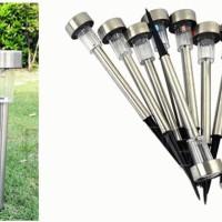 Lampu taman tancap stainless LED solar power tenaga surya garden lamp