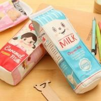 Milk Box Pencil Case / Tempat Pensil Kotak Susu