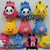 Import Tas Ransel Anak Boneka Minnie, Kitty, Stitch, Duck, Minion
