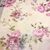 kain gorden gordin gordyn curtain bunga floral shabby chic 2,8m A4