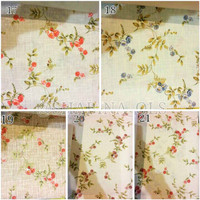 kain silk gorden kursi sofa curtain bunga floral shabby chic 2,8m 8
