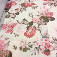 kain gorden gordin gordyn curtain bunga floral shabby chic 2,8m A5