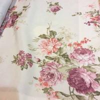 kain gorden gordin gordyn curtain bunga floral shabby chic 2,8m A