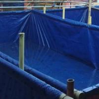 Terpal Kolam Lele 4x1x0.5 Meter | Kolam Terpal Ukuran 4 x 1 x 0.5 M