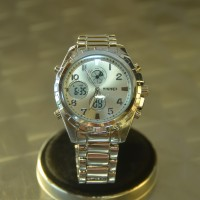 SKMEI Glamour 1021 Silver Digital-Analog Stainless Steel