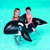 Bestway Whale Ride-On Hitam. Pelampung Renang Anak