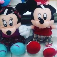 Boneka tokoh kartun Walt Disney Mickey mouse & Minnie Mouse SNI NEW OK