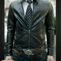 jaket kulit sintetis pria casual Limited