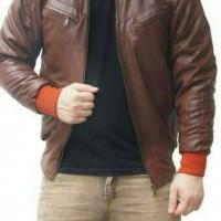 jaket semi kulit pria casual Diskon