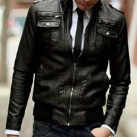 jaket semi kulit pria casual Murah