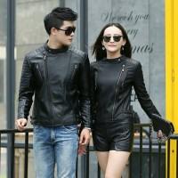 jaket couple kulit sintetis Murah