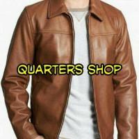 jacket semi kulit pria Murah