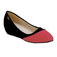 Flat Shoes La Viola Black Red