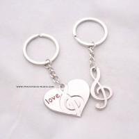 Gantungan Kunci Musik Set | Love GClef Couple Keychain | Music