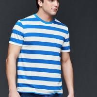 T-shirt Big Size - GAP Vintage Wash Heathered Rugby Stripe T-shirt