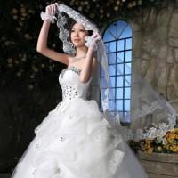 Kerudung Veil Pengantin Lace Wanita l Slayer Wedding Modern - KPW002