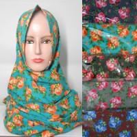 grosir jilbab hijab kerudung pashmina katun motif bunga