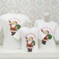 Kaos /Baju Natal Santa Claus-Happy Christmas/Rohani Gereja