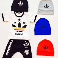 Setelan Baby Adidas 1-2thn Baju Anak Murah Baju Tidur Anak All size