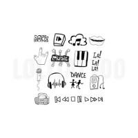 Lolitattoo Temporary Tattoo Rock Doodles