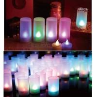 Lampu gelas panjang led lampu lilin elektrik slim lampu tidur kamar