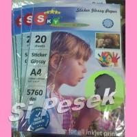 photopaper sticker glossy 145gsm Sky A4 foto paper kertas stiker