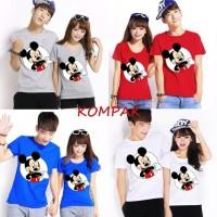 Kaos Couple Round Mickey