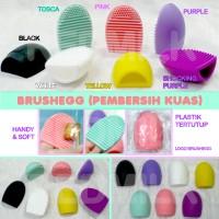 BRUSH EGG CLEANER PEMBERSIH KUAS MAKEUP MAKE UP KOSMETIK PAD CLEANING