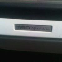Emblem TRD sportivo lips spoiler plat aluminium Toyota Yaris, Fortuner