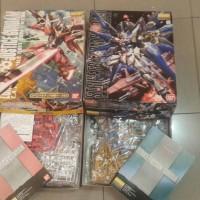 MG Infinite justice Special 30th Gunpla and MG Strike freedom Bandai