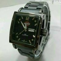 jam tangan herley davidson date/day rantai black