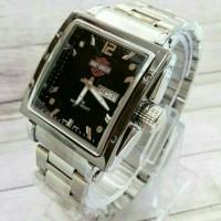 jam tangan herley davidson date/day silver black